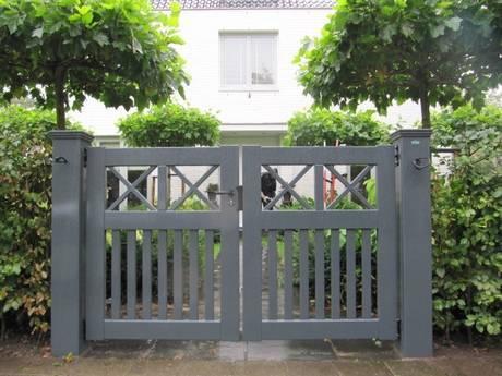 Grijze houten tuinpoort / Open looppoort - Farm Poorten
