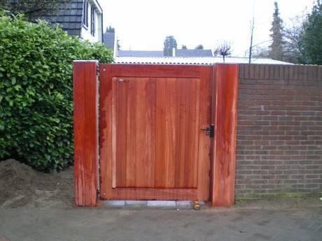 Houten poort - Dichte looppoort / toegangspoort - Farm Poorten