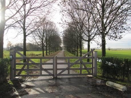 Engelse poort, zeer duurzaam hout. Landelijke automatische poort.