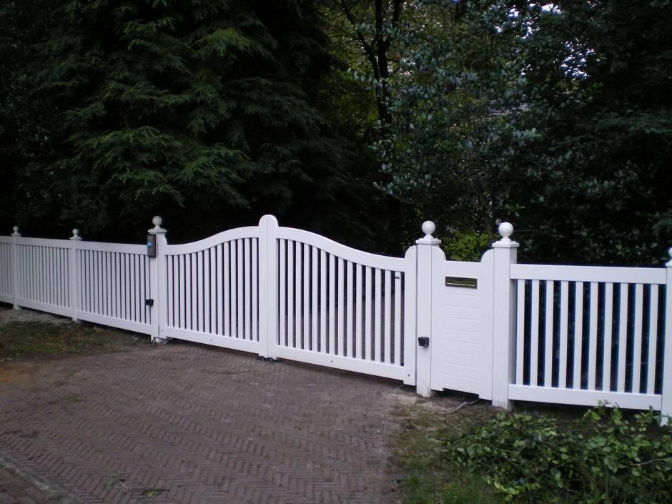 Poort - Inrijpoort met hekwerk - Hardhouten hek tuin - Farm Poorten